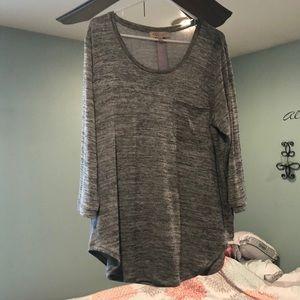 Black/grey longer sweater